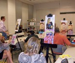 "Natalya B. Parris's students at work; ""Wine with the Masters"" class 9/18/2014 featuring Picasso at the BlackRock Center for the Arts, 12901 Town Commons Dr., Germantown, MD 20874 USA"