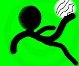 a dude kicking a ball