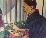 Frida con Dos Pinceles