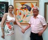 con l'amica artista Nikolinka