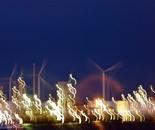 Lumière de nuit dans le port Rotterdam (Night Light in the Port Rotterdam)