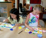 "Natalya B. Parris's students at work on June 17, 2015; ""Exploring The World Through Art"" Arts Barn Camp June 16 - 19, 2015"
