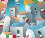 Festa tricolore in città_cm.70x70