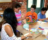 "Teamwork on June 18, 2015; ""Exploring The World Through Art"" Arts Barn Camp June 16 - 19, 2015"