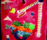 "Artwork inspired by Paul Klee; ""Exploring The World Through Art"" Arts Barn Camp June 16 - 19, 2015"