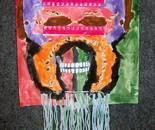 "Mask created by Natalya B. Parris's student on June 18, 2015; ""Exploring The World Through Art"" Arts Barn Camp June 16 - 19, 2015"