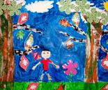 "Artwork inspired by Henri Matisse; ""Exploring The World Through Art"" Arts Barn Camp June 16 - 19, 2015"