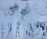 dressed figure-sketchers