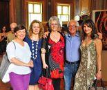 mostra_Villa Amoretti_con amici