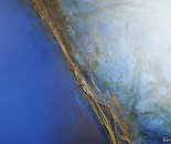 """""""710 A view of the Earth"""" Format: 220 x 145 x 7 cm in acrylic, plastic mixing technology, 2012"""
