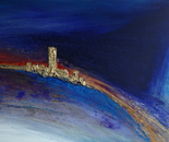 """""""700 sky Castle"""" Format: 300 x 150 x 7 cm in acrylic, plastic mixing technology, 2013"""