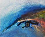 """722A Avatar eye"" Format: 117 x 123 x 7 cm in acrylic, plastic mixing technology, 2012"