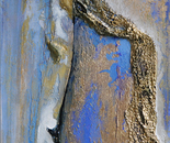 """""""702 The bark of growth"""" Format: 56 x 148 x 5 cm, in acrylic, plastic mixing technology. 2011"""
