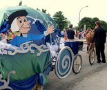 DCRC at Damascus Day Parade on July 10, 2015; theme is Disney; Damascus MD