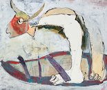 Minotaur on The Boat (2015; 60x80 cm / 23,62x31,5 in)