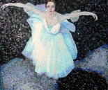 Ballet dancer mosaic