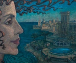 Villa Rosa 50x70; Oil, Canvas
