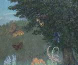 Dance of Butterflies_2002_ 90x70_Oil, Canvas