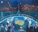 Ferry Theatergoers 70x90