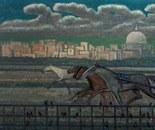 Inhabitants Horse Race 50x100
