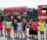 Visit from local Fire Station; DES  Summer Fun Center July 2014