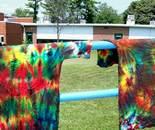 Tie Dye project; DES Summer Fun Center July 2014