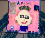 Student's artwork – portrait of Ms. Natalya B. Parris inspired by Swiss-German painter Paul Klee; Natalya B. Parris is teaching Exploring the World through Art August 10  - 14, 2015 camp from 9am – 3pm for children 7 – 11 year - old  at the Gaithersburg A