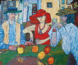 Three and the apples, oil/canvas,100/120 cm, 2009