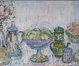Still-life set in soft tone, oil/canvas, 50/100cm, 2009