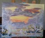 Foggy Carolina Sunset