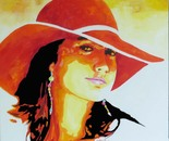 Girl with the Vermillion Hat