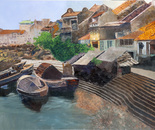 Old Boat Quay, Singapore, 101x76cm