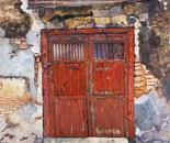 Old Red Door, Penang, 76x61cm