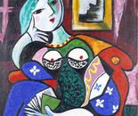 Portrait of a Lady reading, 76x61cm