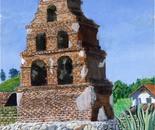 St Miguel Mission, 45.5x61cm