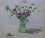 The Flowers in a Glassy Vase