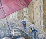 Tel Aviv. The Rain
