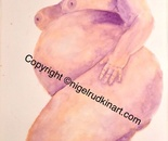 Pregnant Naked Beauty in Repose