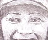 Bessie Coleman, smiling