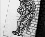 A drawing of an inmate...