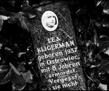 26. The memorial stone with a picture of Lea Kligerman...