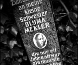 29. The memorial stone with a picture of Bluma Mekler...