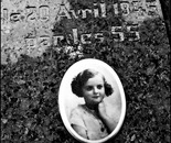 34. The memorial stone with a picture of Jacqueline Morgenstern...