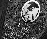 36. The memorial stone with a picture of Rywka Herszberg...