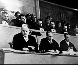 "38. A photo of the trial in 1946, the so-called ""Curio-Haus-process"",..."