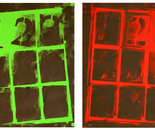 LETTERFRAMES in Green & Red