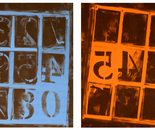 LETTERFRAMES in Blue & Orange