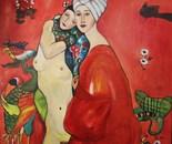 Homage to Gustav Klimt: Friends