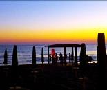 lanterne al tramonto