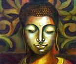 Buddha- Acrylic high Textured Canvas